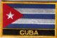 Cuba Embroidered Flag Patch, style 09.
